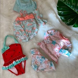 Baby girls swimsuit it bundle 3-9 months